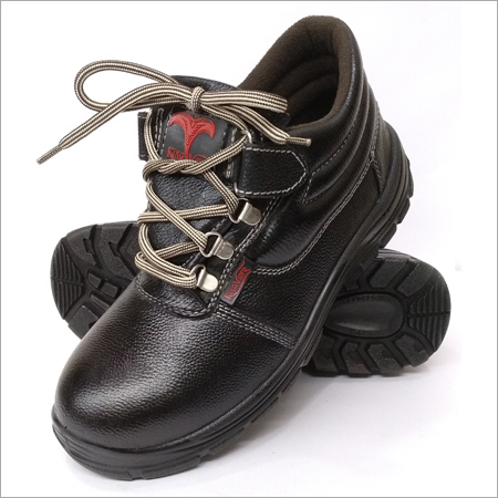 Mens Black Low Ankle Safety Shoes