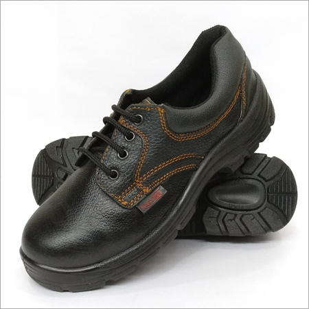 Abrasion Resistance Black Safety Shoes
