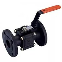 L&T Make 3 Piece Ball Valve Flanged End