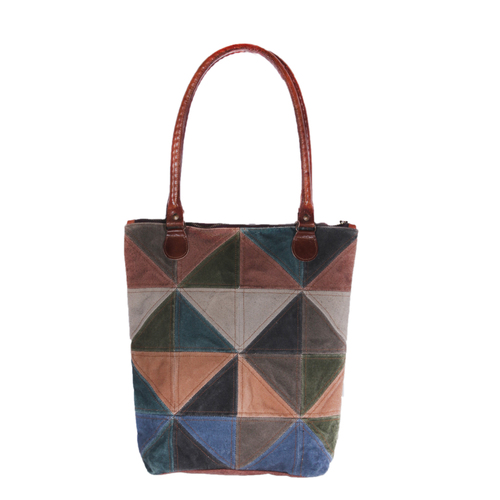 triangle square patch bag