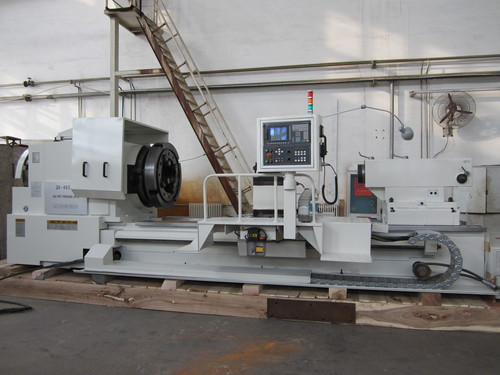 Hollow spindle lathe from china for pipes