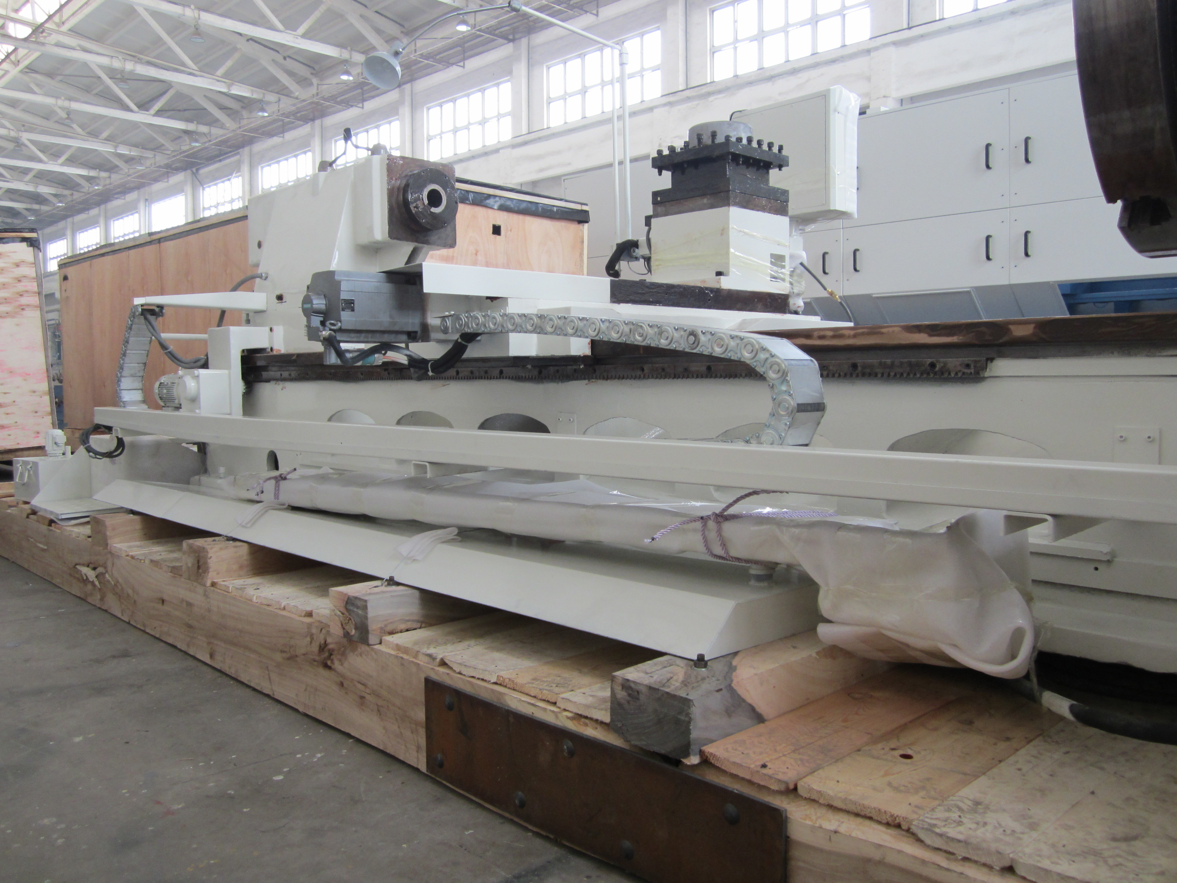 Horizontal Hollow Spindle Oil Country Lathes QK1246 Made In China