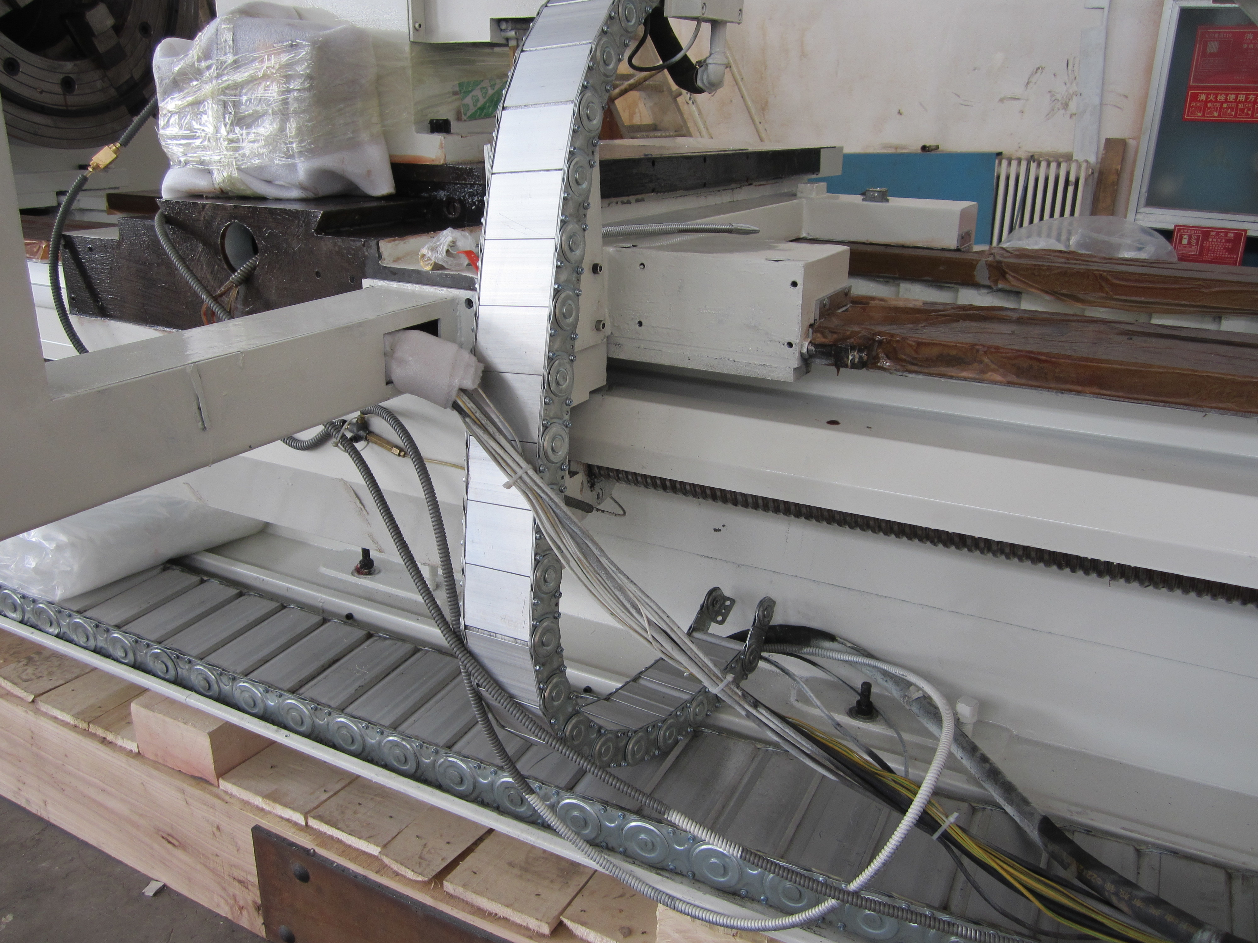 New cnc pipe threading lathe with good service