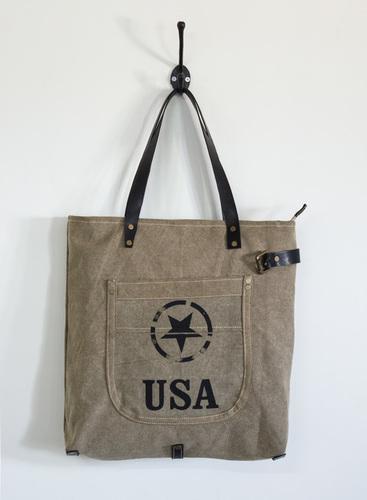 star print tote bag