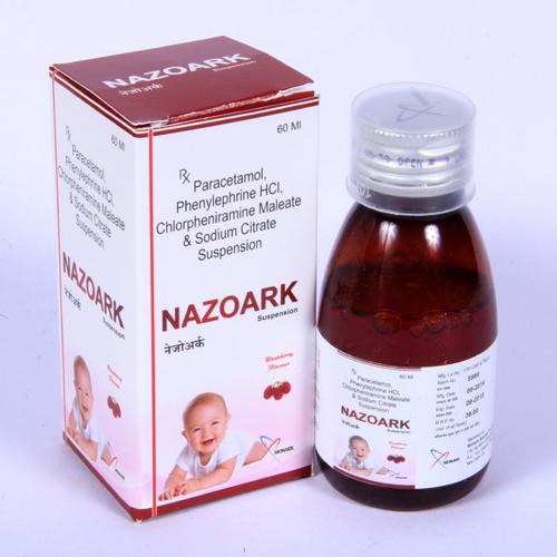 Paracetamol 125mg + Phenylephrine 2.5mg + CPM 1mg  With Monocarton