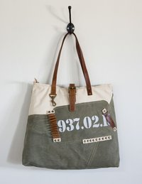 vintage military tote bag
