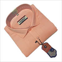 Full Sleeve Formal Shirt on Peach Color Shirts