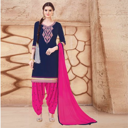 Fancy Patiala Embroidered Suit