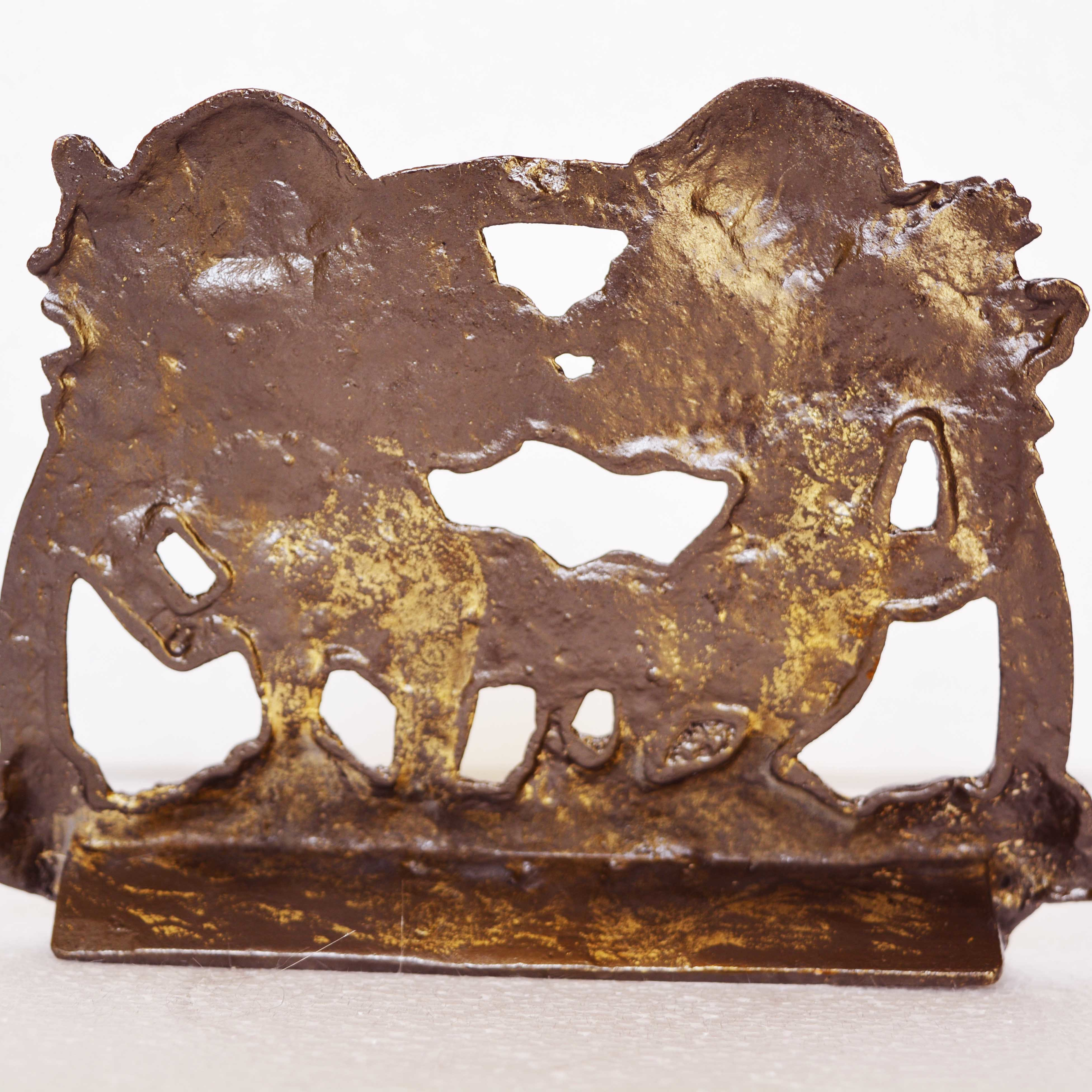Cute Cupids Metal Wall Plate With Antique Finish For Wall