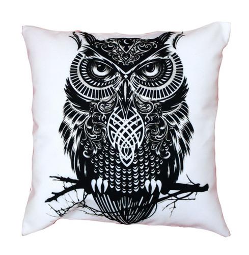 Owl Design Cushion Cover
