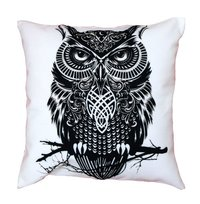 Owl Design Cushion Cover