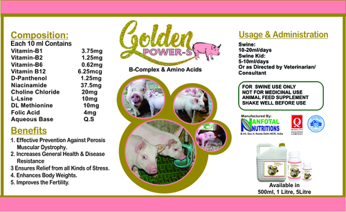 Swine Multivitamin And Growth Promoter Supplement (Golden Power-S)
