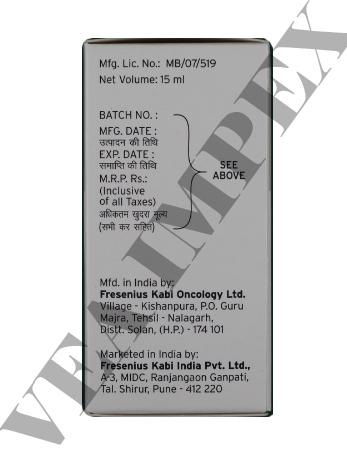 Kemocarb 450 mg(Carboplatin Injection)