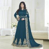 Designer Anarkali Semistitched Suit