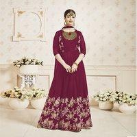 Embroidery Work Fancy Anarkali Churidar Suit
