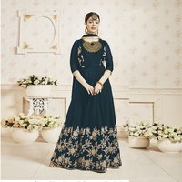 Embroidery Work Fancy Anarkali Churidar Suit