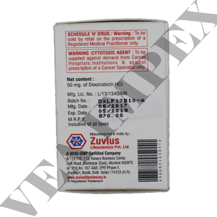 Zuvidox 50mg(Doxorubicin Hydrochloride Injection)