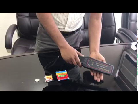 Hand Held Metal Detector - LED Bar