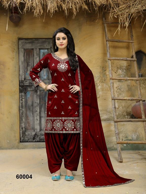 Embroidery Work Patiala Suits