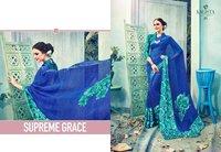Designer Satin Printed Sarees