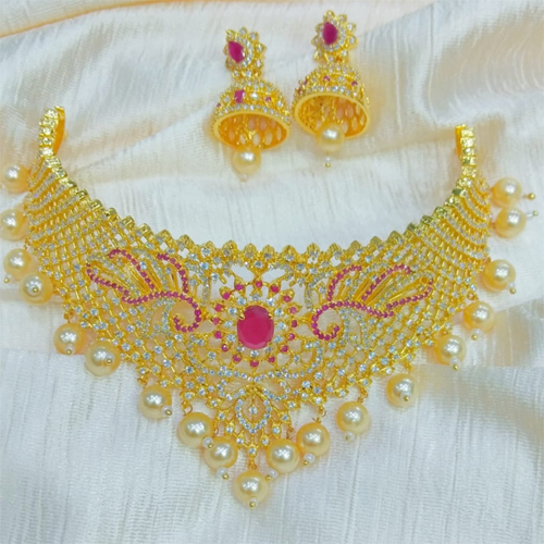 Golden Chokor Necklace Set