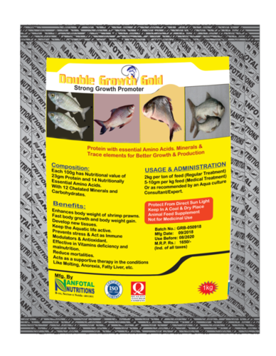 Aquaculture Growth Promoter Supplement (Double Growth Gold)