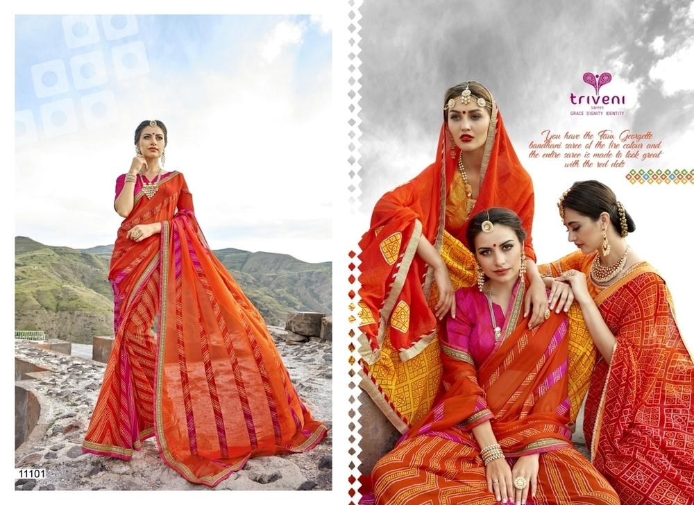 Rajasthani Bandhani Sarees