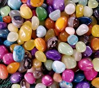 super polished mix colored stone / onyx pebbles