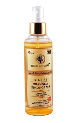 Orange & Lemongrass Herbal Body Massage Oil