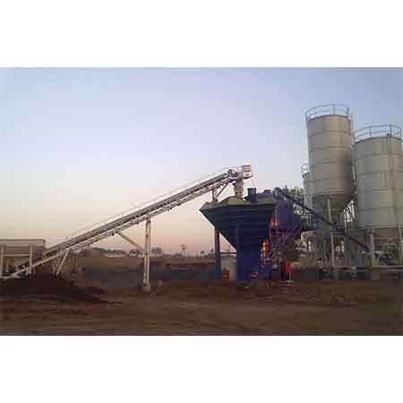 Swivel chute & Belt Conveyor suitable for CP 30 compartment plant aggregate feeding