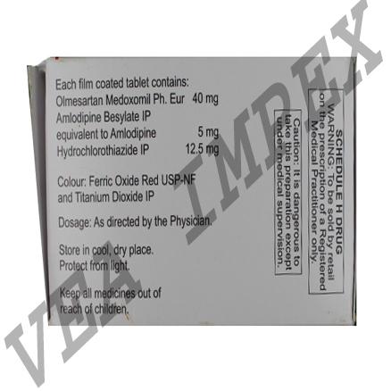 Triolmesar 40 mg(Olmesartan Medoxomil Tablets)