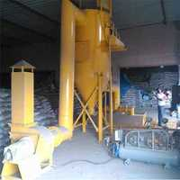 Dust extarcting system for cement bag cutting hopper