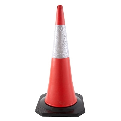 Safety Cone with Rubber Base