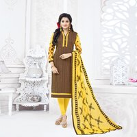 Plain Fancy Cotton Salwar Suit