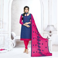 Latest Plain Cotton Embroidered Salwar Suit