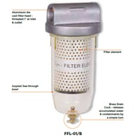 High Flow 10 Micron Fuel Filter