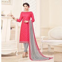Festive Cotton Embroidered Salwar Suit