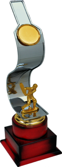 MT 3322 Metal Cricket Trophy