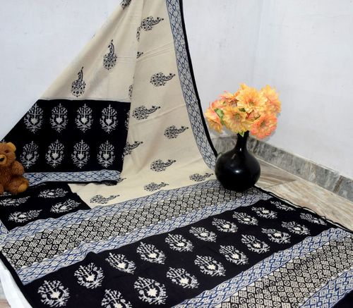 Ladies Hand Printed Sarees