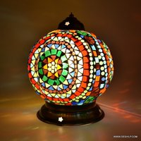 Mosaic Colorful Mosaic Table lamp Antique glass mosaic table lamp showpiece