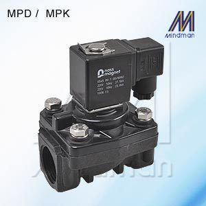 2/2 Way Diaphragm Series n.c. Solenoid Valve Model: MPK