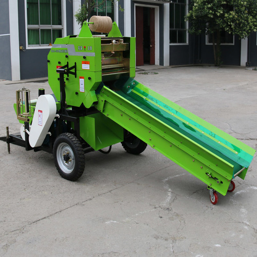 Silage baler and wrapper forage round baling machine