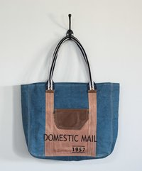 denim canvas tote bag