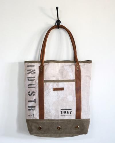 vintage wash industry bag