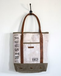 vintage wash industry bag