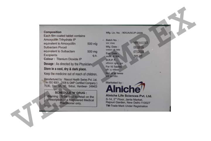 Synbeta 1000(Amoxycillin & Sulbactam Tablets)