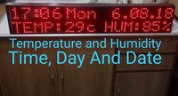 Temperature Humidity, Time,Day And Date Led Displa Board