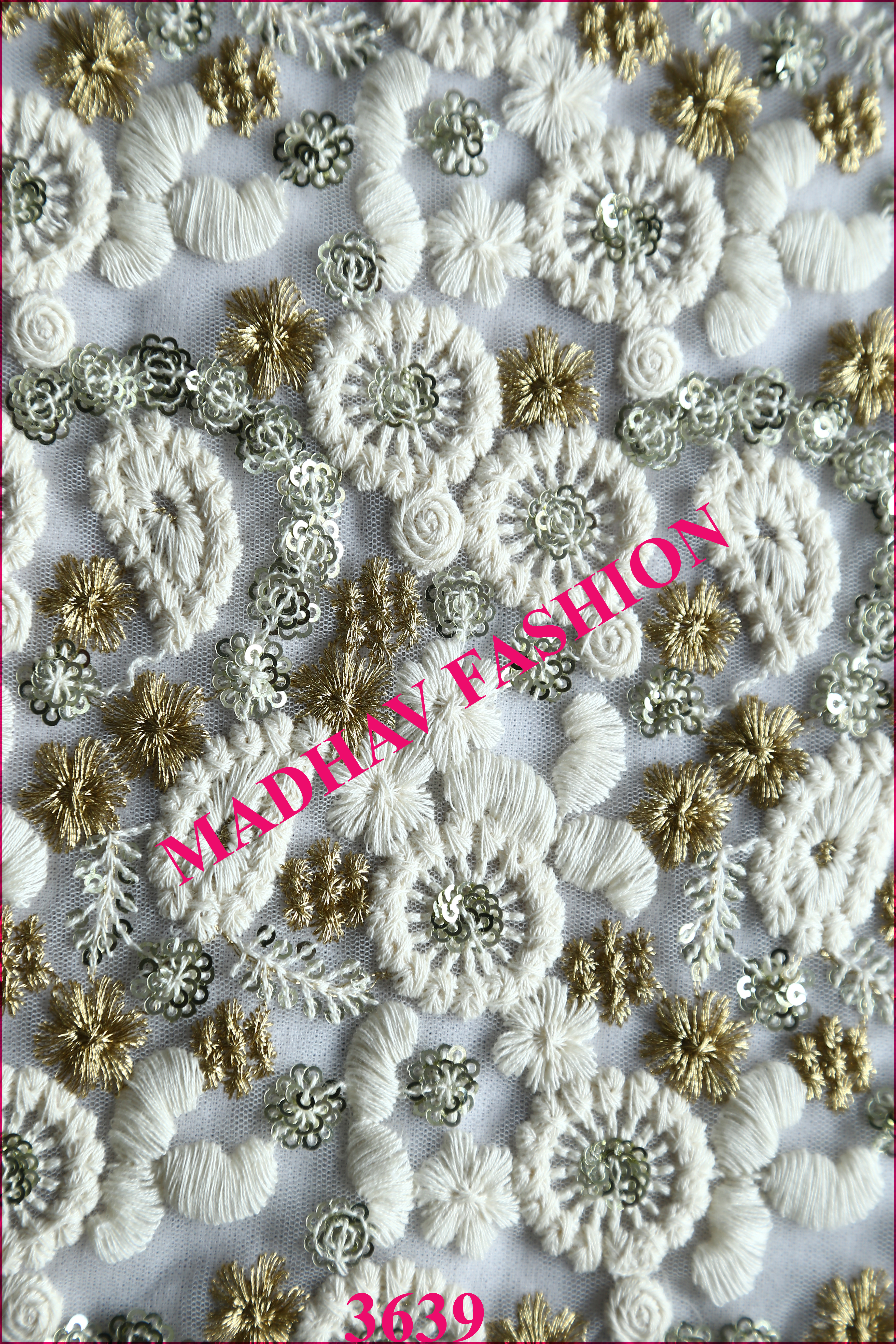 Multi Thread Embroidery work