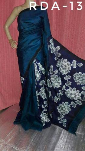 Ladies Hand Painted Silk Sarees