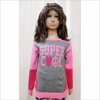 Intarsi Gilr Kid Sweater